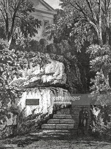 Stairs to roman house weimar in the 19th century from the 1873 book 'the Earth and her People