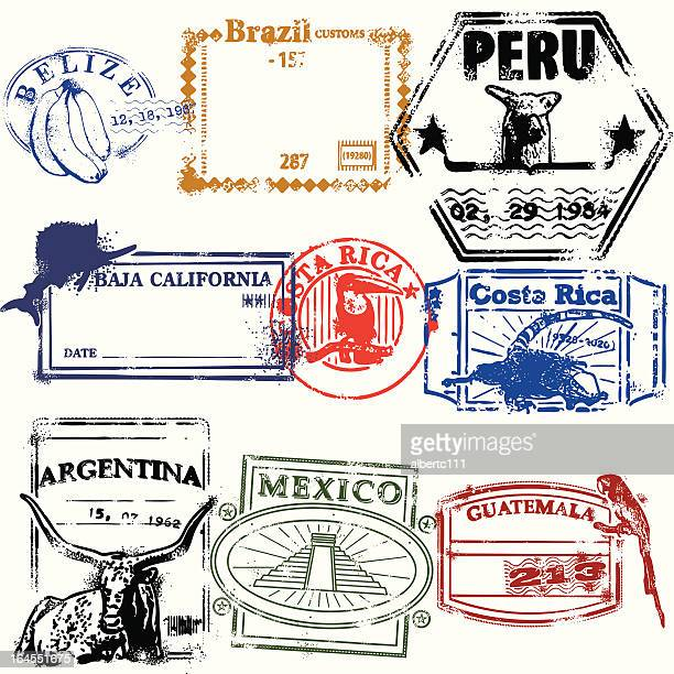stamps of the race - argentina stock illustrations