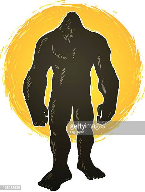 standing bigfoot - bigfoot stock illustrations