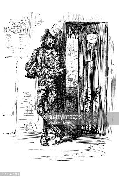 standing by the stage door - fan enthusiast stock illustrations
