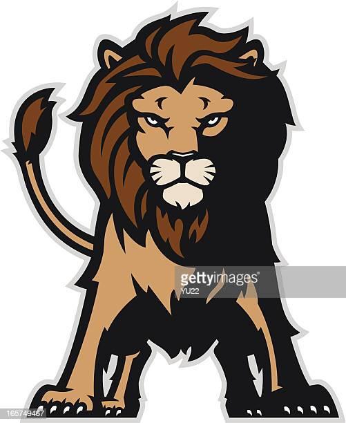 ilustrações, clipart, desenhos animados e ícones de pé de leão - animal mane