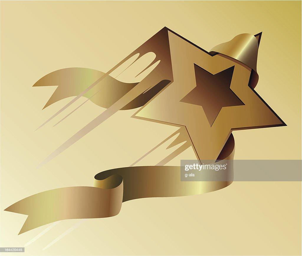 Star and ribbon