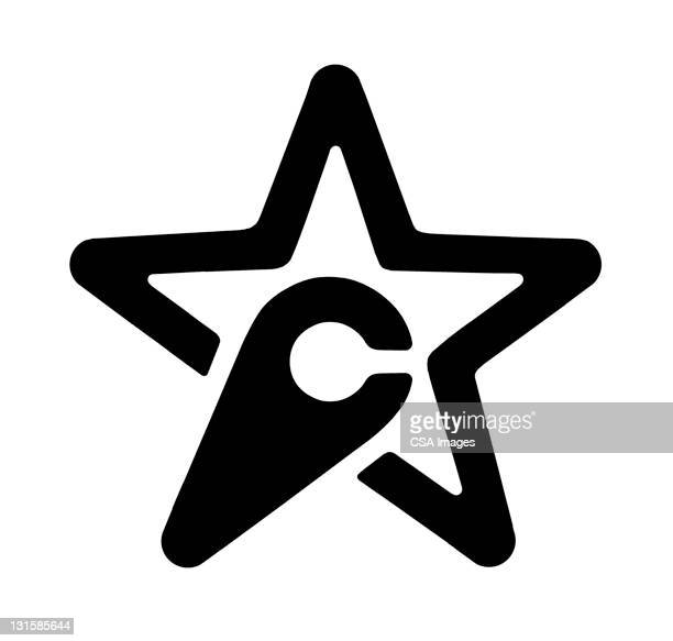 c star - logo stock illustrations