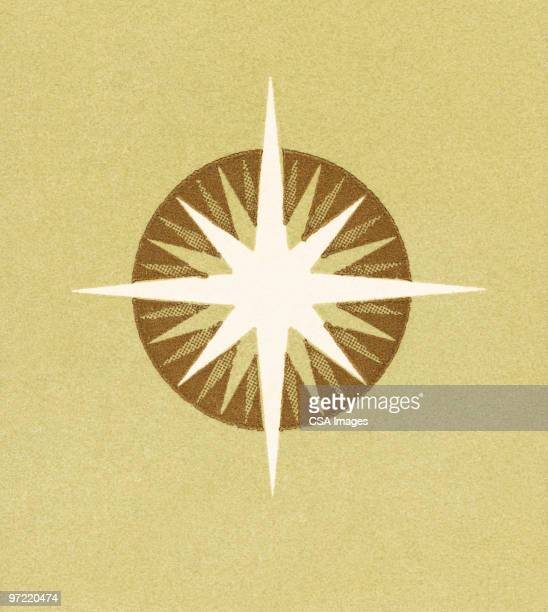 star - west direction stock illustrations