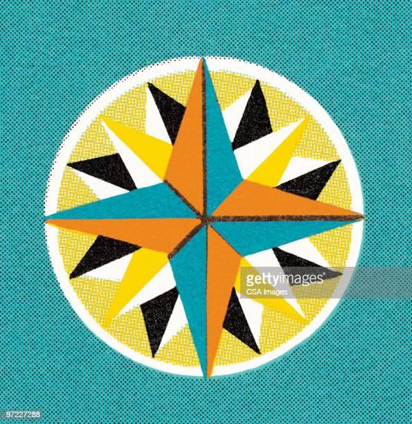 star - 方位磁針点のイラスト素材/クリップアート素材/マンガ素材/アイコン素材