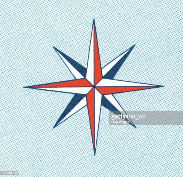 illustrations, cliparts, dessins animés et icônes de star - boussole