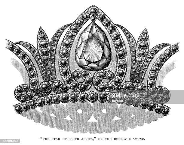 star of africa - tiara stock illustrations, clip art, cartoons, & icons