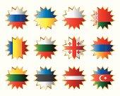 Star shape flags set - Eastern Europe