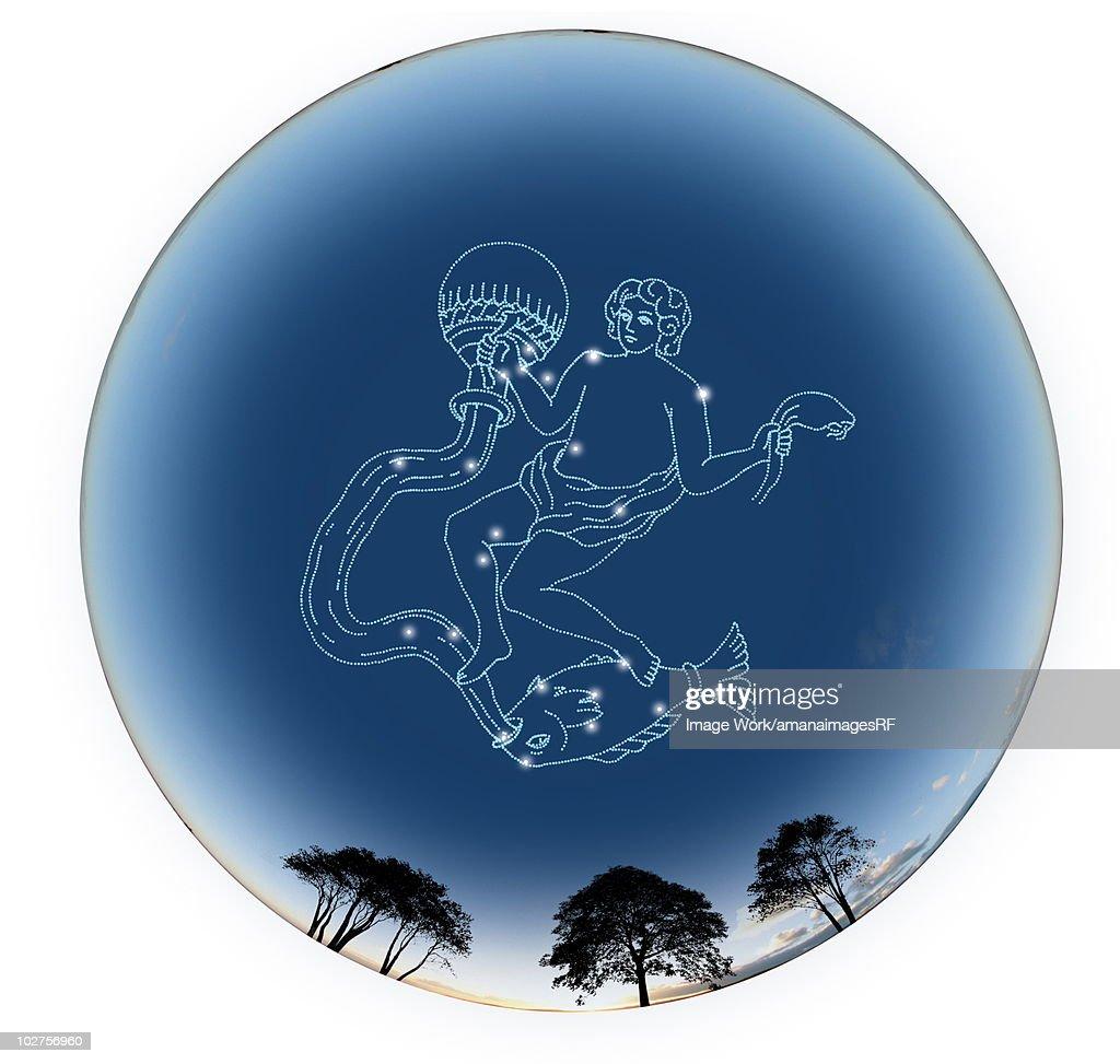 Star Sign, Aquarius : Stock Illustration