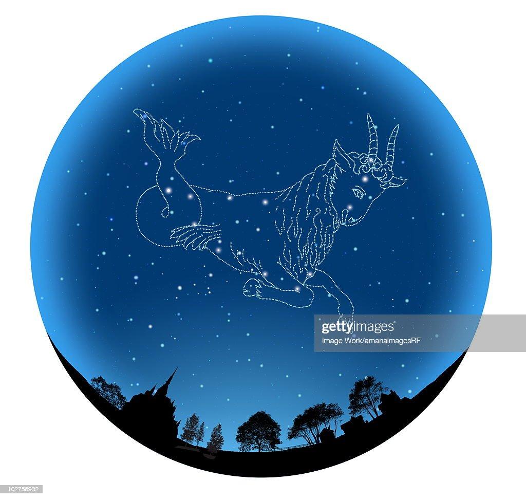Star Sign, Capricorn : Stock Illustration