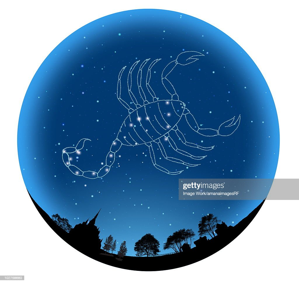 Star Sign, Scorpio : Stock Illustration
