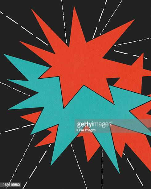starbursts - firework explosive material stock illustrations