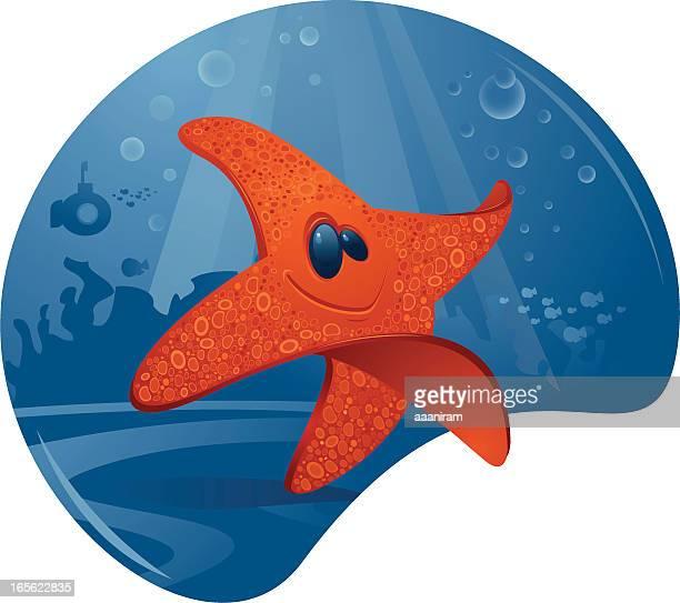starfish - seascape stock illustrations