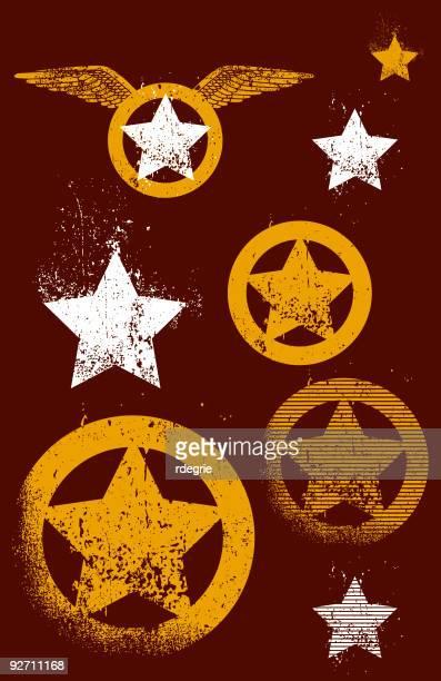stars and grunge forever! - animal limb stock illustrations, clip art, cartoons, & icons