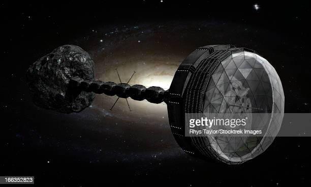 ilustraciones, imágenes clip art, dibujos animados e iconos de stock de starship inspired by the novels of stephen baxter. - galaxiaespiral