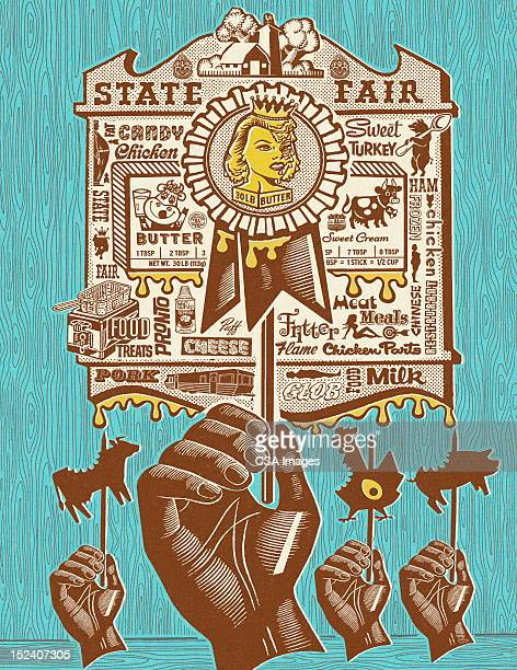 state fair on a  stick - agricultural fair stock illustrations, clip art, cartoons, & icons