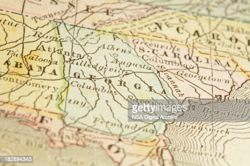 State Of Georgia Map Stock Illustration Getty Images - State of georgia map