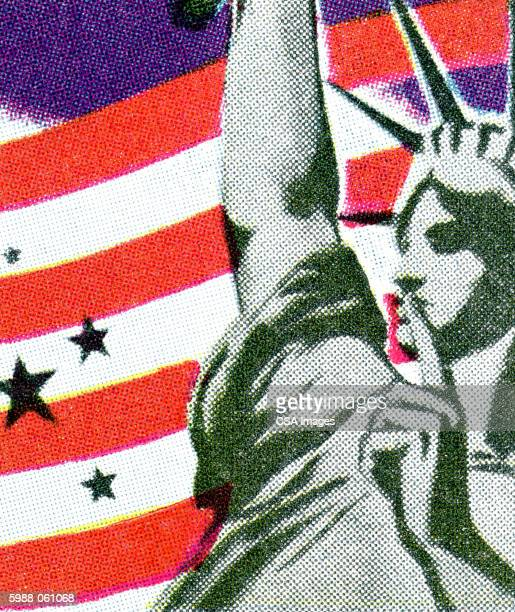 statue of liberty - artistic product stock illustrations