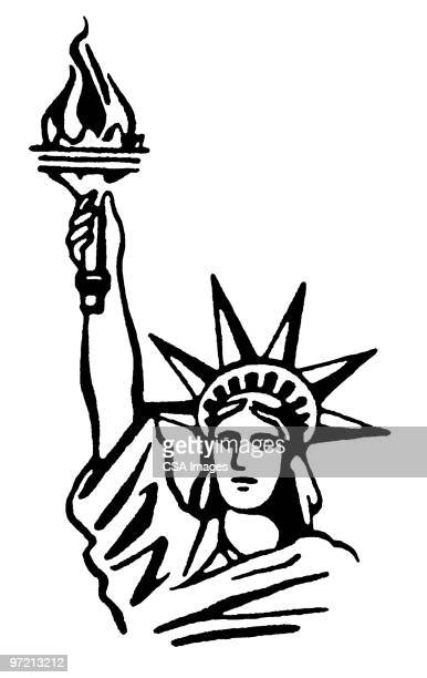 statue of liberty - statue of liberty stock illustrations