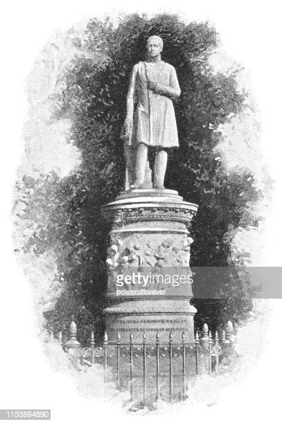 Statute of Frederick William III of Prussia at Tiergarten Park in Berlin, Germany - Imperial Germany 19th Century