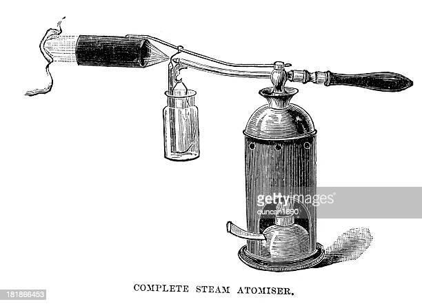 steam atomiser - obsolete stock illustrations