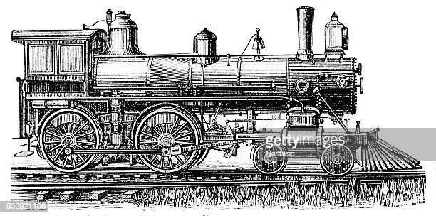 steam locomotive - boiler stock illustrations, clip art, cartoons, & icons