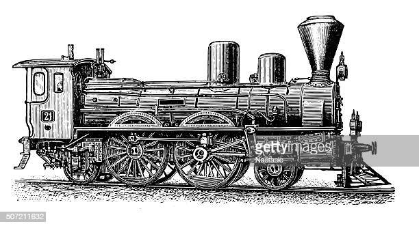 ilustrações de stock, clip art, desenhos animados e ícones de locomotiva a vapor - arcaico