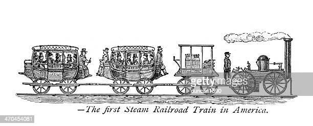ilustraciones, imágenes clip art, dibujos animados e iconos de stock de tren de vapor - revolucion industrial