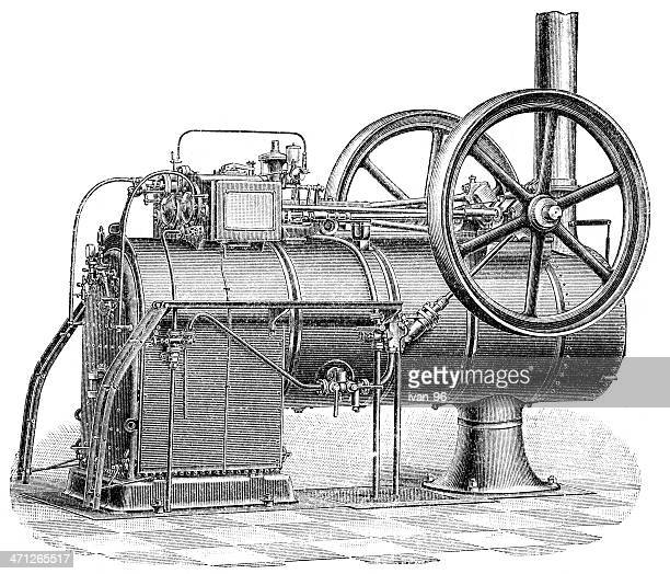 steam-engine - boiler stock illustrations, clip art, cartoons, & icons