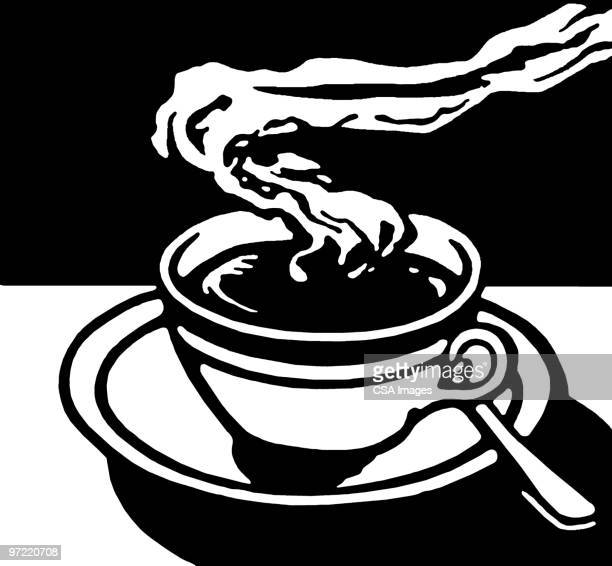 steaming beverage - steam stock illustrations