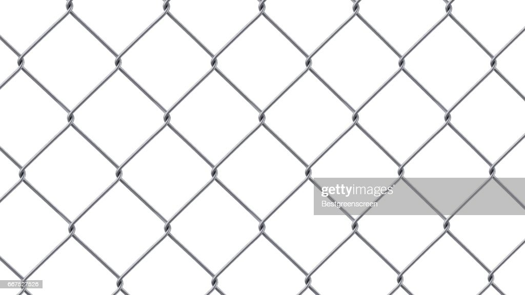 Steel Wire Fence Isolated On White Background Stock Illustration ...