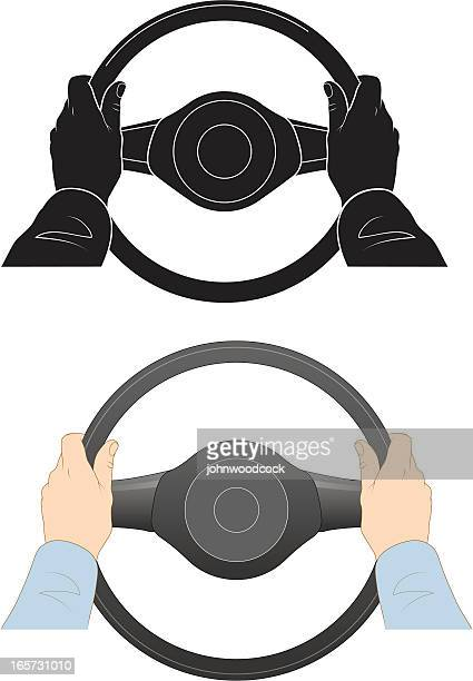 steering wheel - steering wheel stock illustrations