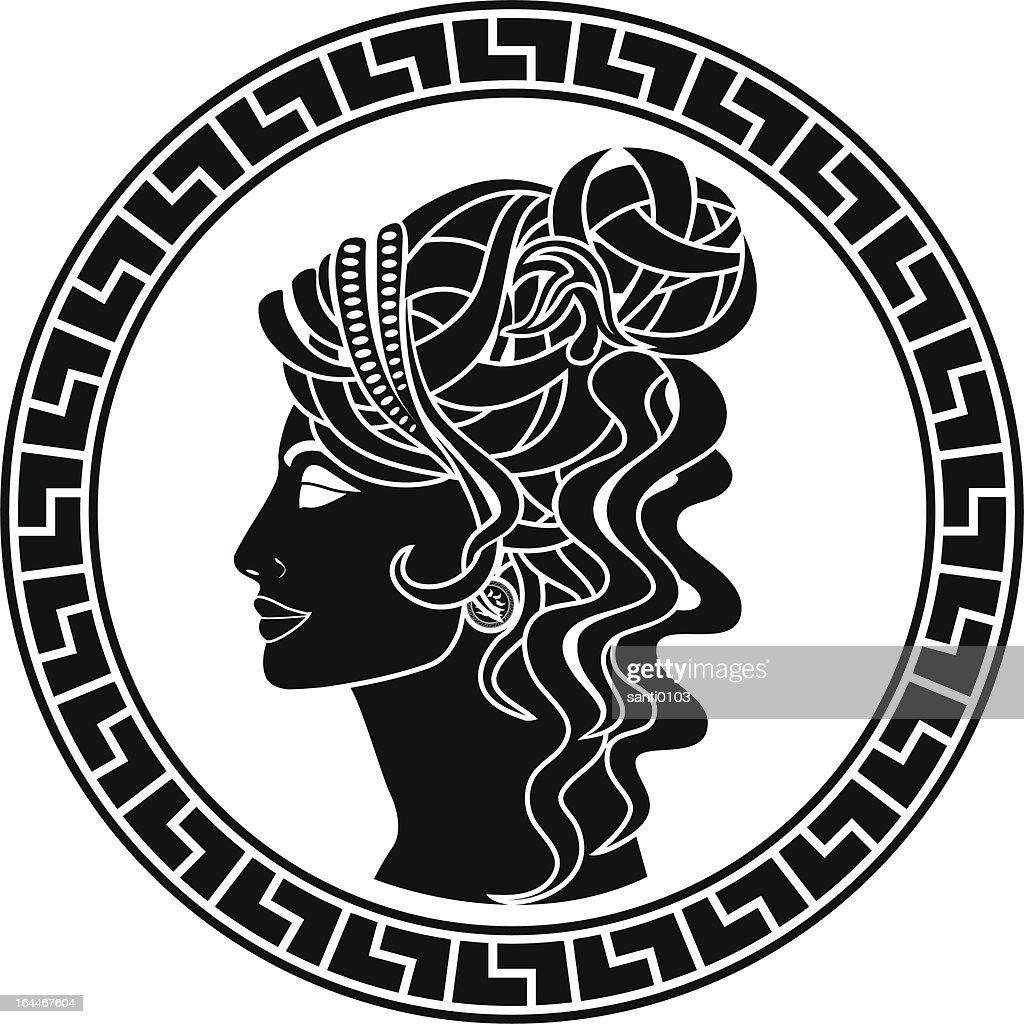 stencil of aristocrat woman
