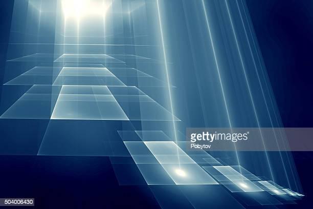 ステップを光 - 道点のイラスト素材/クリップアート素材/マンガ素材/アイコン素材