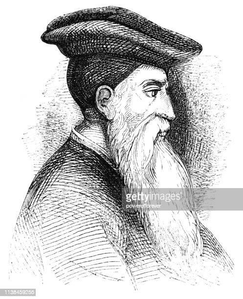 ilustrações, clipart, desenhos animados e ícones de stephen gardiner, bispo de winchester (século xvi) - bishop clergy
