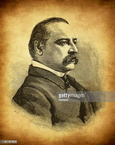 stephen grover cleveland (march 18, 1837 – june 24, 1908) was an american politician and lawyer who was the 22nd and 24th president of the united states - stehen stock illustrations