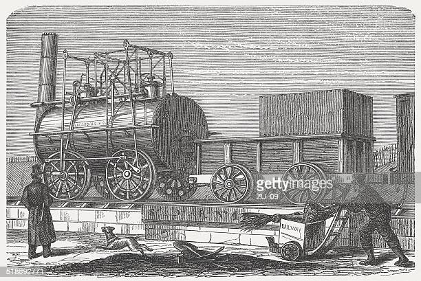 Stephenson's Locomotive for the Stockton and Darlington Railway, published 1877