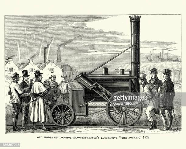 Stephenson's Locomotive, The Rocket, 1829