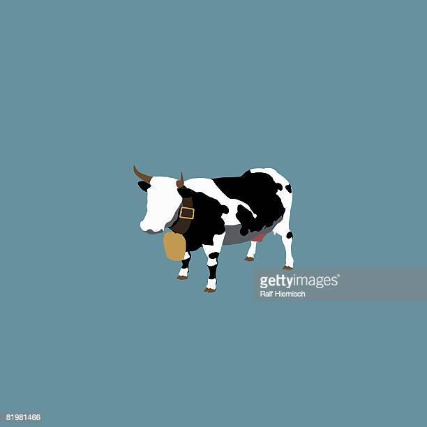 ilustraciones, imágenes clip art, dibujos animados e iconos de stock de stereotypical swiss dairy cow - vacas
