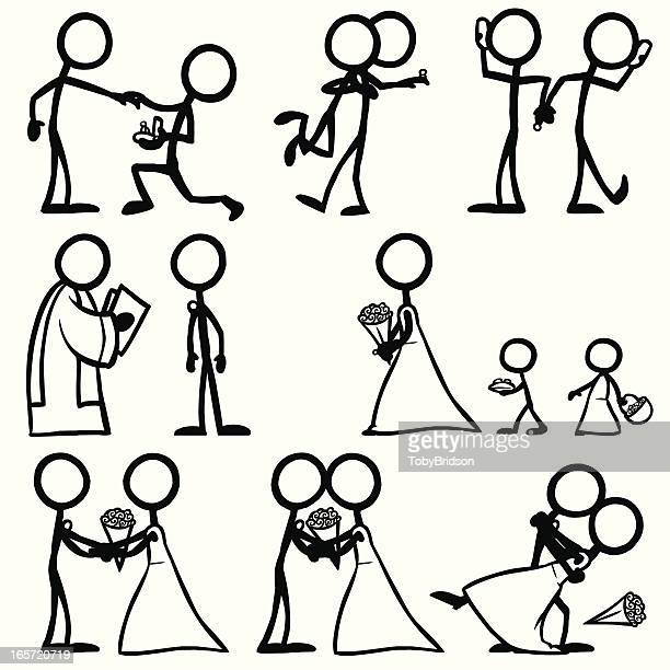 Stick Figure People Wedding