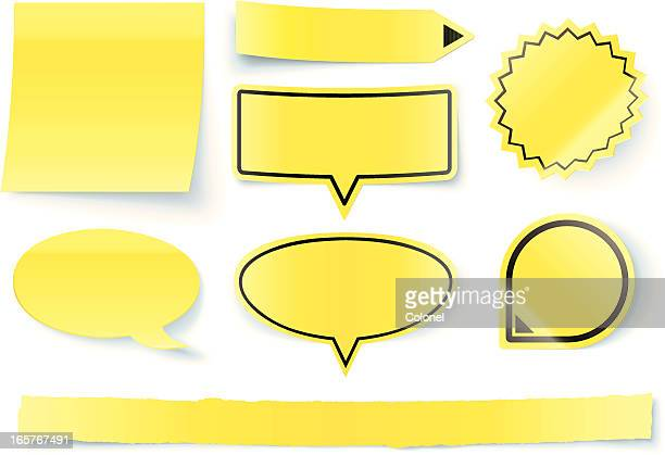 3d sticky notes and pointers set - post it stock illustrations, clip art, cartoons, & icons