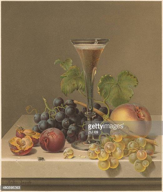 Still life, by Helen R. Searle (1830-1884), lithograph, published 1871
