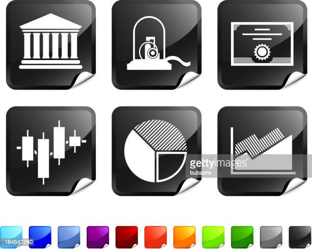 stock market royalty free vector icon set stickers