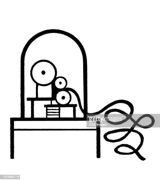 stock ticker machine - 紙テープ点のイラスト素材/クリップアート素材/マンガ素材/アイコン素材