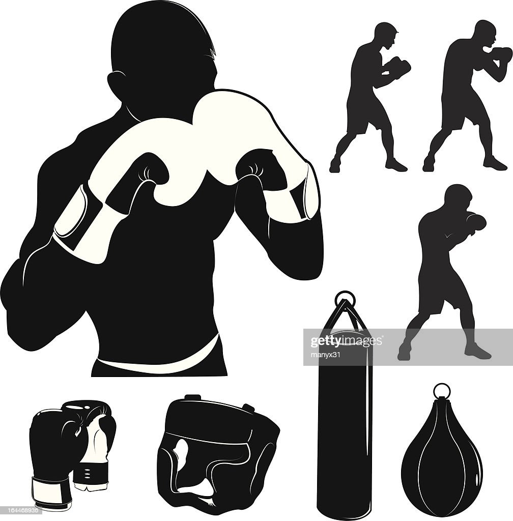 Stock Vector Illustration: Box and boxing