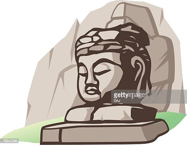 Stone Buddha of Usuki, Woodcut, Ooita Prefecture, Japan