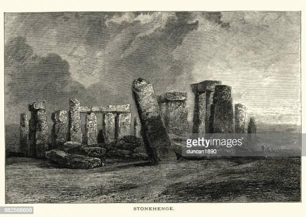 ilustrações de stock, clip art, desenhos animados e ícones de stonehenge, 19th century - megalith