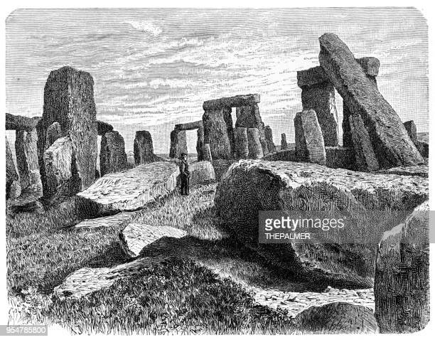 ilustrações de stock, clip art, desenhos animados e ícones de stonehenge engraving 1894 - megalith