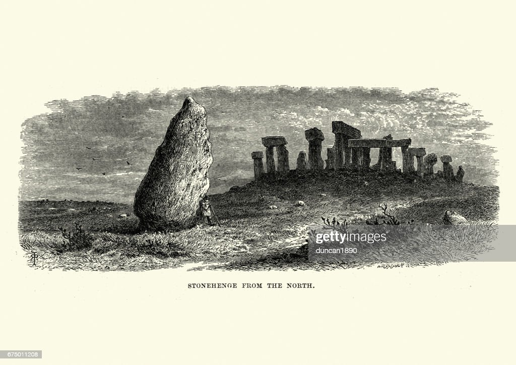 Stonehenge from the North : stock illustration