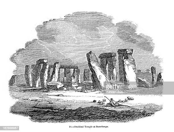 ilustrações de stock, clip art, desenhos animados e ícones de stonehenge - megalith